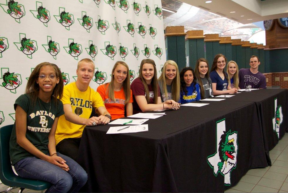 10 Carroll Student Athletes Sign Scholarships - Southlake