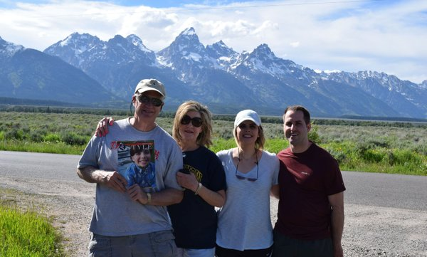 Scott, Valerie and Meredith Stalets & Hurley Gunn in Jackson, WY in front of Grand Tetons.jpg