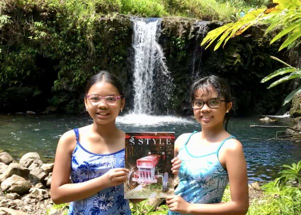 Gabrielle and Isabelle Velasco on the Hawaiian island of Mau.jpg