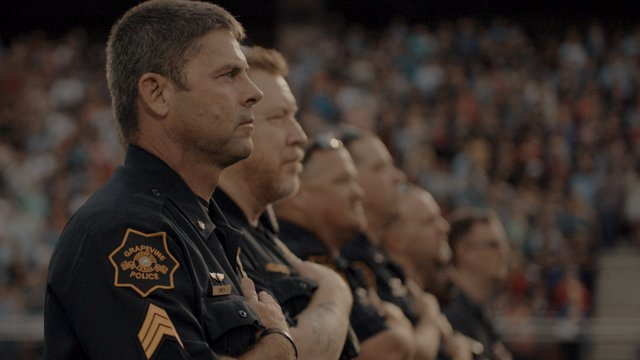 Grapevine Police Department officers at attention_Photo Credit- Gateway Church.jpg