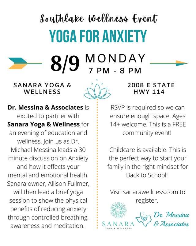 Wellness Event - Yoga/Anxiety