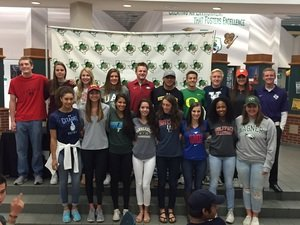 18 Dragon student athletes signed their National Letter of Intent November 9 2016 at Carroll Senior High Photo Courtesy of CISD