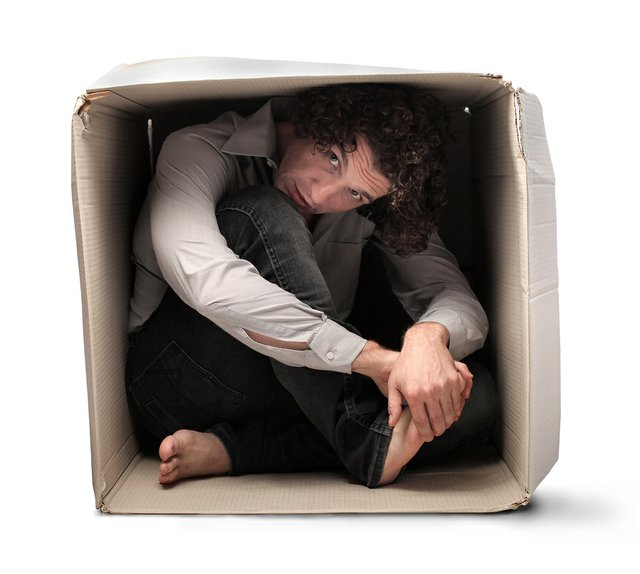 Image result for guy in a box